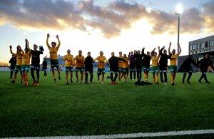 Ull/Kisa kunne juble etter årets første trepoenger i OBOS-ligaen 2019 etter 3-0-seieren over Sogndal i den første hjemmekampen på Jessheim stadion.