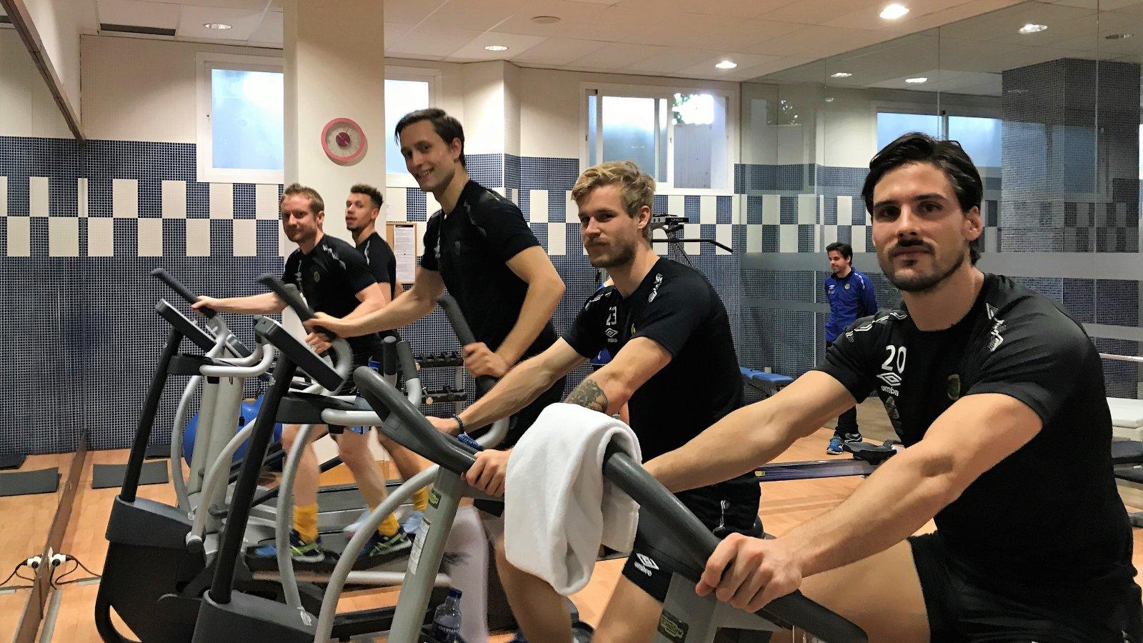 Emmanuel Troudart, Jan Tore Amundsen, Alexander Vangen, Mats-Andre Kaland og Morten Sundli, Marbella 2018.
