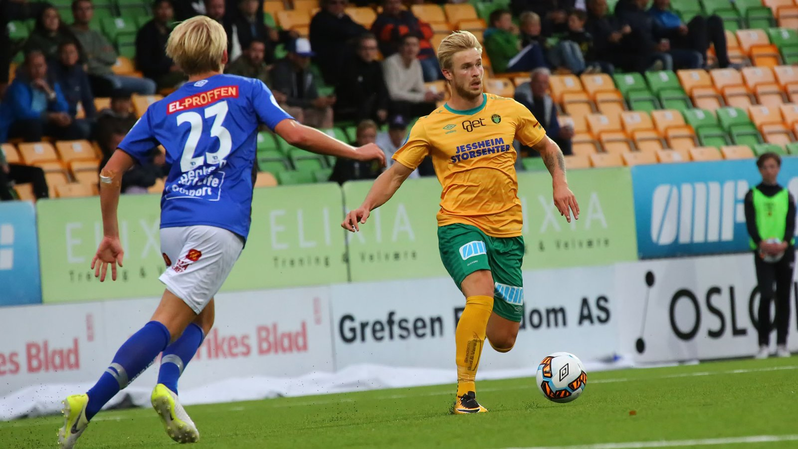 Mats-Andre Kaland på vei fremover for Ull/Kisa mot Start.