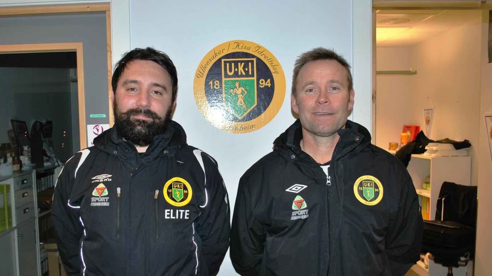 TRENERTEAM: Igor Kostic og Oddvar Henriksen blir hovedansvarlige for Ull/Kisas rekruttlag i 2017.