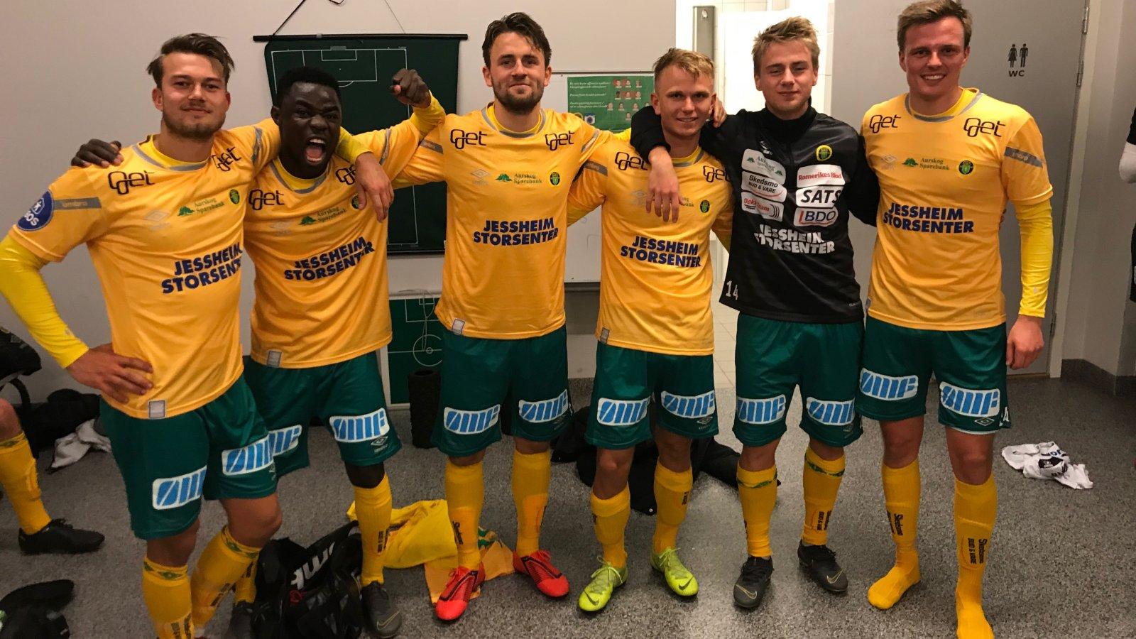 GODGUTTENE: Disse seks spillerne scoret målene i 8-0-seieren mot Tromsdalen.