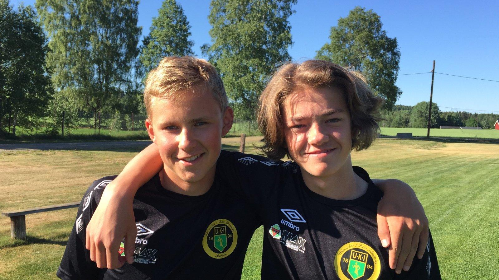 Sebastian Stokke og Elias Solberg.