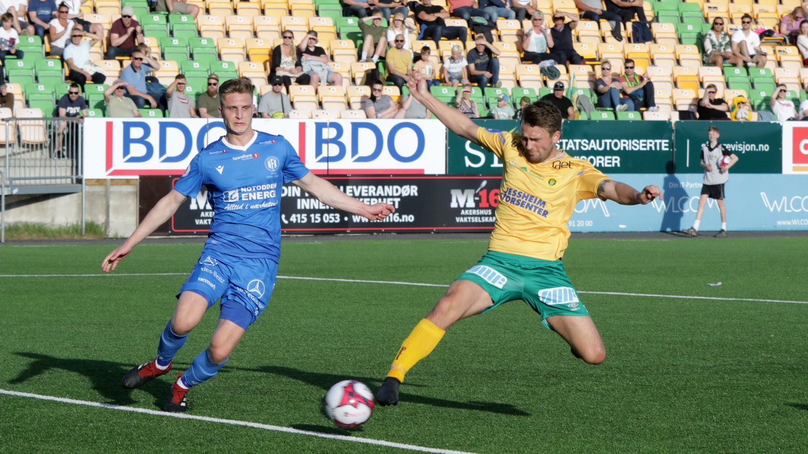 Martin Trøen hadde fortjent scoring mot Notodden etter voldsom løpskraft. Her er han nære å sette inn 4-1.